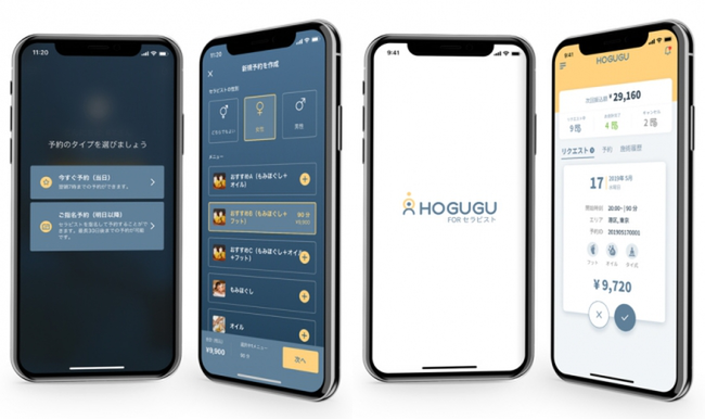 HOGUGU, which allows customers to search for outcall therapists using their smartphones, has initiated fundraising efforts