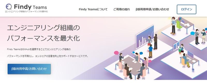 GitHubの活動状況からエンジニアの生産性を可視化する「Findy Teams」β版