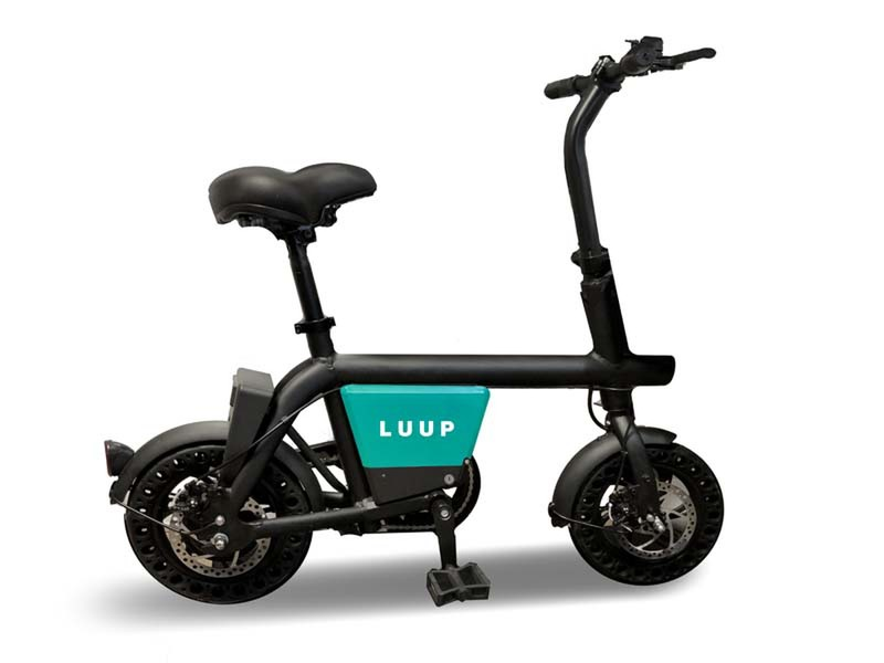 Start of LUUP sharing service for compact electrically assisted bicycles
