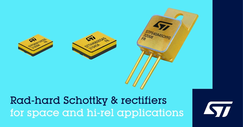 Radiation hardened Schottky diodes for Aerospace Applications