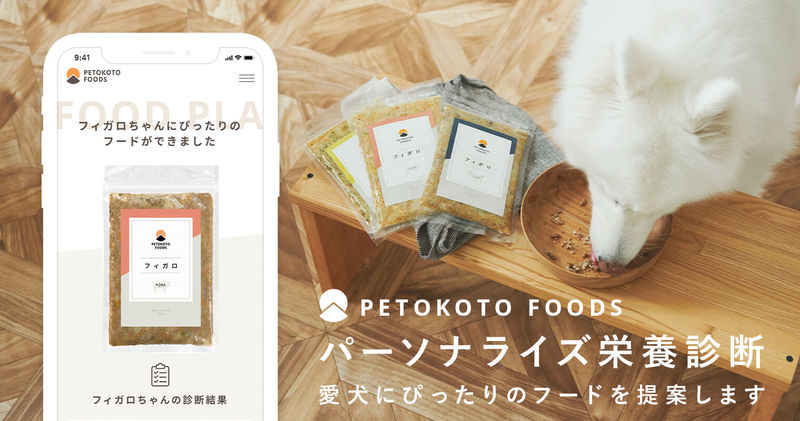 PETOKOTO FOODS, a diagnostic service that suggests perfect menus and calories for pet dogs