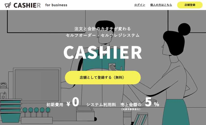 """Launch of self-order/self-payment system """"CASHIER"""" that allows users to place orders and make payments on their own smartphones"""