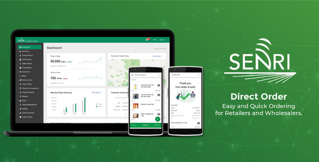 """Senri officially releases """"SENRI Direct Order"""", a mobile ordering platform for retailers in the developing world"""