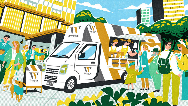 """Datafluct begins real life test of the """"WHEEL kitchen"""" food trucks, designed using data science"""